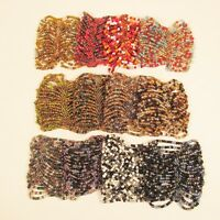 12PC Handmade Beaded MultiColor Stretch Elastic Bracelets WHOLESALE LOT 12 Color