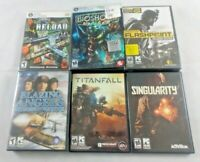 Lot Of 6 PC Computer Games Tested Working Bioshock Titanfall Reload Singularity