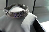 CLASS✨ 29g sterling silver 925 THAILAND Byzantine Anatolia style enamel bracelet