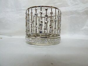 Bath and Body Works 3 Wick Candle Holder chevron Pedestal Unicorn xmas Gems gold