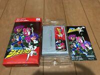 Shubibinman ZERO Japan Super Famicom SNES BOX and Manual