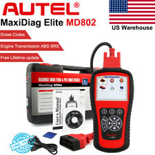 Autel Maxidiag Elite MD802 OBD2 Auto Diagnostic Tool ABS SRS Engine Code Scanner