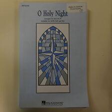 vocal score O HOLY NIGHT satb , mac huff - hal leonard