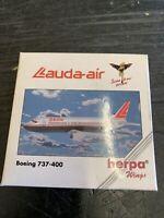 HERPA WINGS LAUDA AIR. BOEING 737-400 SCALE 1:500 ITEM NO 501200