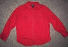 LAUREN RALPH LAUREN PETITE RED LONG SLEEVE SHIRT WOMENS Size P/M