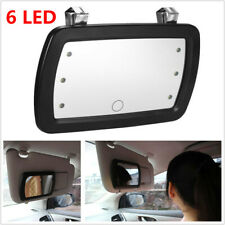 Finger Touch Switch Car Sunvisor Mount LED Make-up Mirror Cosmetic Mirror w/Clip