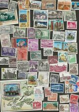 BUILDINGS AND ARCHITECTURE - 62 STAMPS ALL DIFFERENT