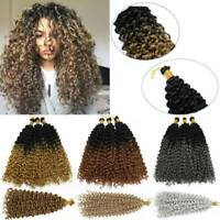 "14"" Water Wave Crochet Braids Hair Extension Afro Briaiding Twist Loop Braiding"