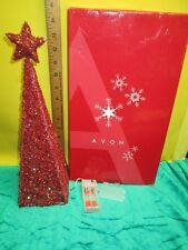 Avon Majestic Red Lighted Christmas Tree -Battery Operated ~ Free Shipping