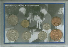 Leicester City The Foxes Vintage League Cup Final Winners Coin Fan Gift Set 1964