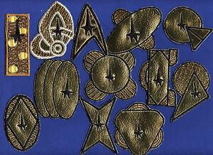 Classic Star Trek USS 12 Ship Class Patch Set  [48 patches total]