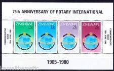 Zimbabwe 1980 MNH SS, Rotary Club 75 th Anniversary, Globe