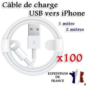 LOT CÂBLE DE CHARGE CHARGEUR USB VERS IPHONE 6 7 8 X XR XS MAX 11 12 13 PRO MAX