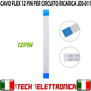 CAVO FLEX 12 PIN FLAT MODULO RICARICA JOYPAD PLAYSTATION 4 PS4