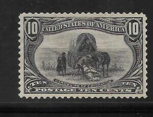 US Scott #290 mint never hinged 10c gray violet 1898 Trans Mississippi, og vf