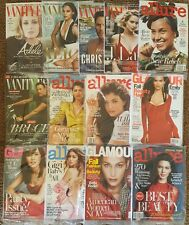 GLAMOUR- VANITY FAIR  CELEBRITY  ENTERTAINMENT  MAGAZINES  2016-17  LOT OF 13