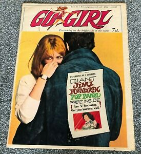 GO GIRL COMIC #2 1968 WITH FREE GIFT GIANT JIMI HENDRIX POP PANEL EXTREMELY RARE