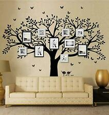ANBER Family Tree Wall Decal Butterflies and Birds Wall Decal Vinyl Wall Art Pho