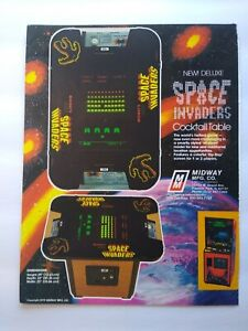 Midway Space Invaders Deluxe Magazine Trade AD Retro Gaming Vintage 1980