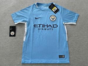 New Nike Manchester City Kids Small Jersey 2017/18 Blue ManCity S Boys Youth Kit