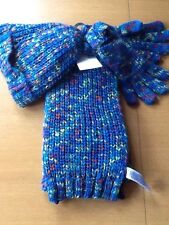 BNWT M&S GIRLS HAT, SCARF, AND GLOVES SET AGE 10-14