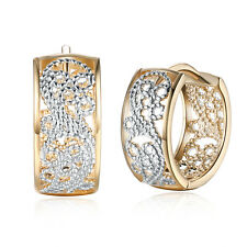 Romantic Women 18K Gold Plated Jewelry Buckle Hoop Huggie Earrings Christmas