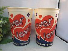 2x Vtg Rare Lily advertising cups. Borden Burger.Columbus,OH