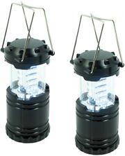 2x LED Camping Laterne mit 30 langlebigen LEDs sehr kompakt Metallgriff schwarz