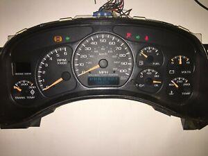 7 Gauge Silverado Tahoe Yukon Sierra HD Cluster Speedometer 00 01 02 142K miles