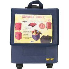 Smart Cart, Blue Rolling Multipurpose Collapsible Basket Cart Scrapbooking
