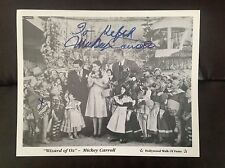 Signed Picture of Mickey Carroll~WIZARD OF OZ~Munchkin~8X10~Fan Photo Autograph
