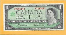 1967 CANADIAN 1 DOLLAR BILL H/P7285143 (CIRCULATED)