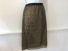 Next gold sequin skirt size 10 reg bnwt originally £45