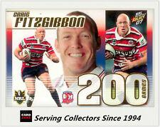 Select NRL Limited Edition Case Card: 2007 NRL Invincibles CC9 Craig Fitzgibbon