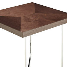 John Lewis Eva  Mink Birch High Gloss Square Side Table Rrp £575