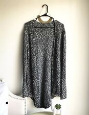 Brandy Melville Knit Black Gray And White Speckled Cardigan One Size Fits Most
