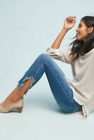 NWT $188 Anthropologie Joe's The Icon Embellished Skinny Ankle Jeans mid-rise 27