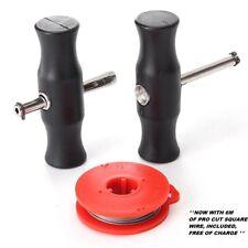 3Pcs Car Windscreen Removal Tool Glass Cutting Wire + Handles Kit (Basic Kit)