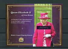 Ghana 2015 MNH Queen Elizabeth II Longest Reigning Monarch 1v S/S Royalty Stamps