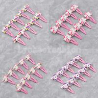 10pcs Glitter Unicorn Hair Clips Cartoon Animal Bobby Pin Kids Hair Accessories