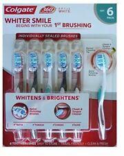 Colgate 360 Advanced Optic White Toothbrush Spiral Polishing Bristles - Soft 6pk