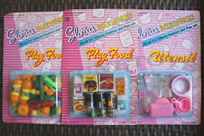 GLORIA DOLL HOUSE FURNITURE Size Vegetable + Fridge Food + Utensil For Dolls