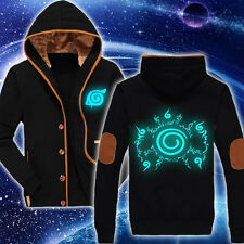 NEW Anime Naruto Uzumaki Luminous Hoodie  Unisex Casual Jacket Sweatshirt Coat