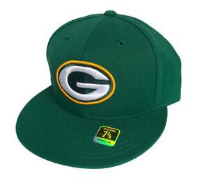 Green Bay Packers NFL Wool Fitted Cap Green Vintage Reebok Deadstock Size 7 3/8
