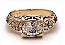 10k Yellow Gold Vintage Cubic Zirconia Ring