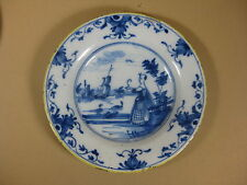18th C. Dutch Delft Plate With Chinese Decoration