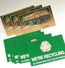 """8 Vintage McDonald's Expired """"Be Our Guest"""" Offer - We're Recycling 1991 Coupon"""