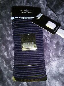Goody Ouchless Hair Elastics Black 32 pcs + Bonus Ribbon Elastic