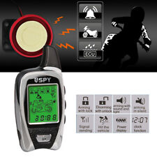 SPY Lcd 2 Way Anti-Theft Motorcycle Motorbike Alarm & Immobiliser Remote Start
