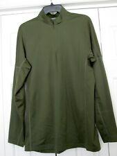 Men's 1/4 zip under armour pullover green xlarge
